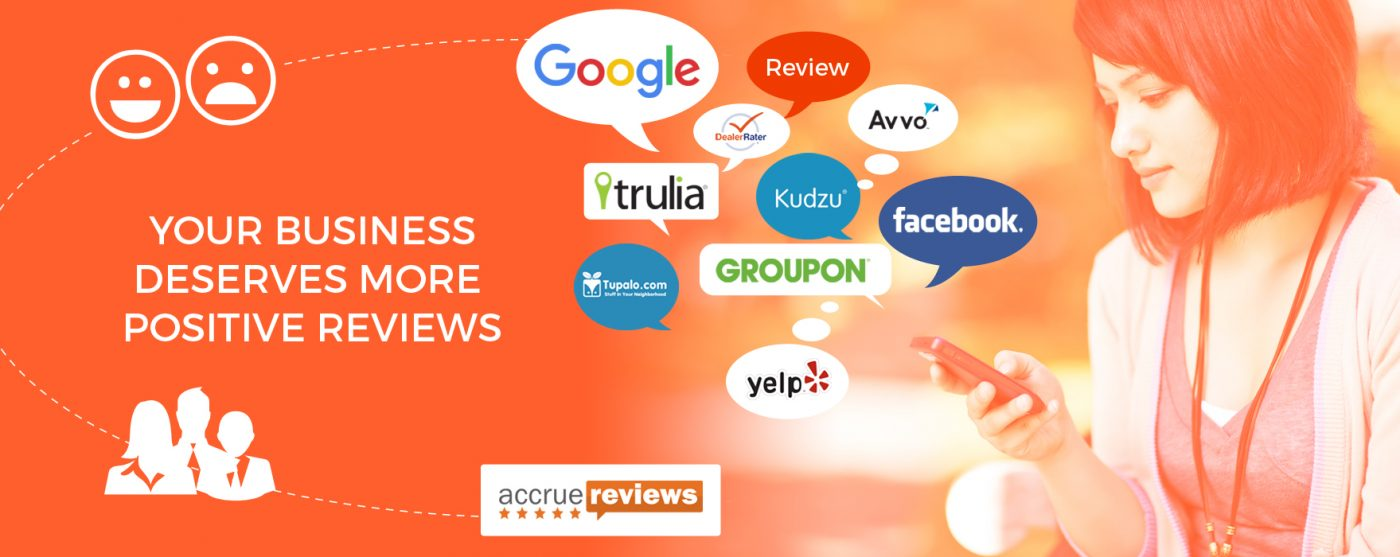 online business reviews with google, trulia, groupon, yelp, facebook and more